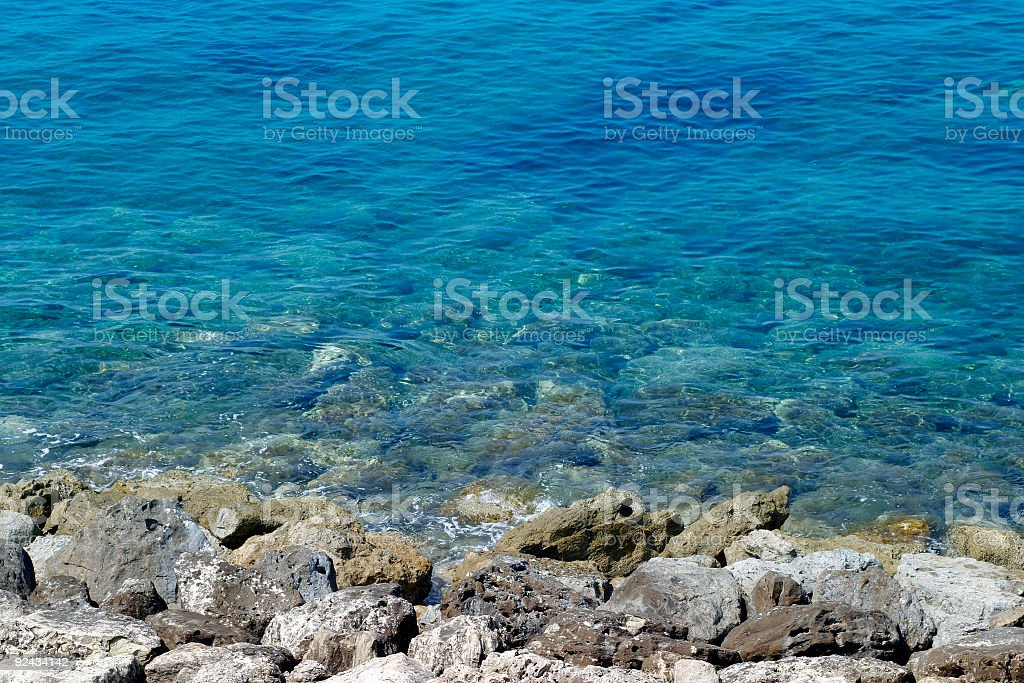 Coastline on the Med royalty-free stock photo