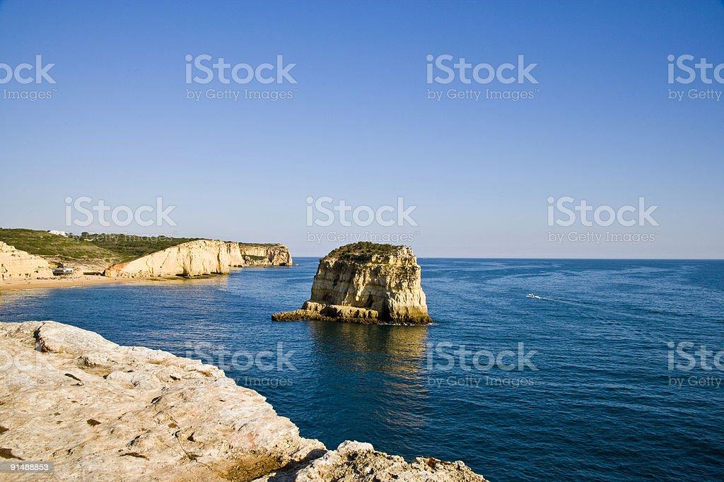 Coastline on the Portugese coast royalty-free stock photo