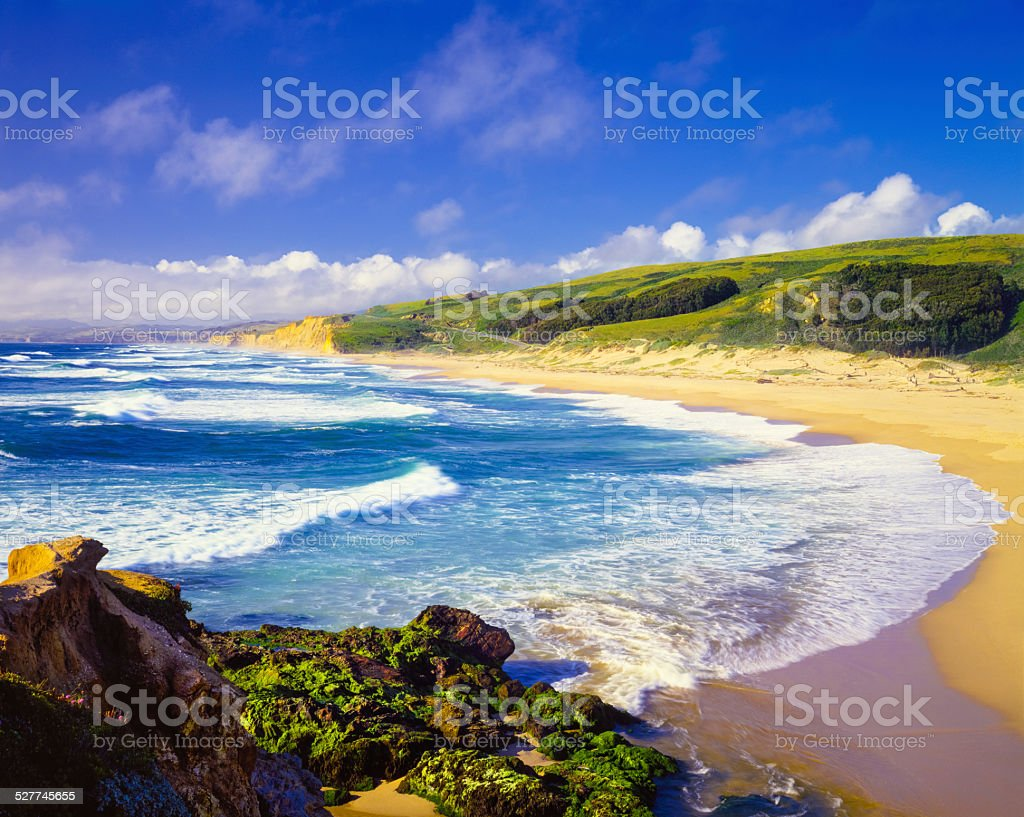 Coastline Pescadero State Beach,Carmel,Pacific Ocean,CA(P) stock photo