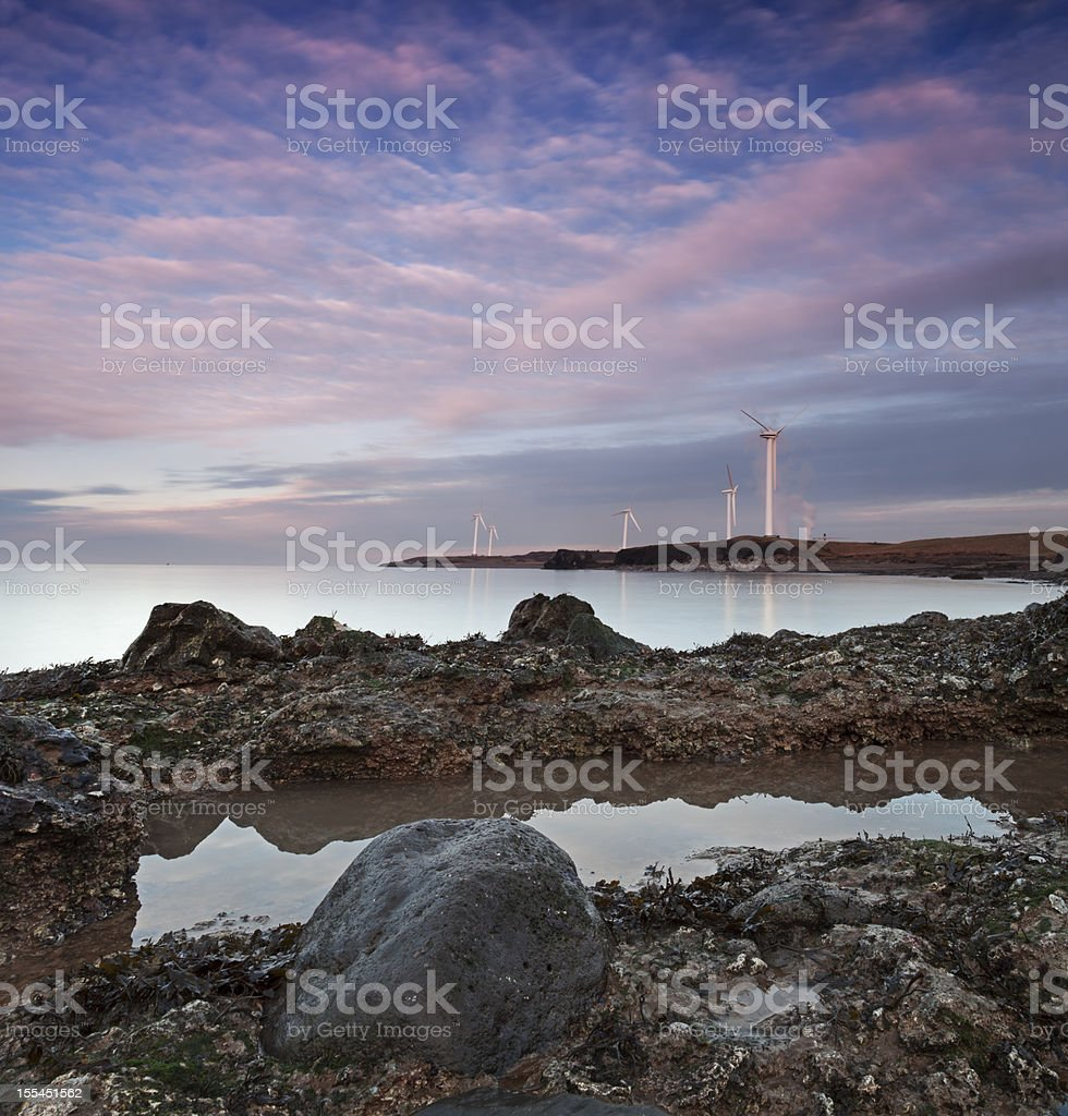 Coastline Sunset stock photo