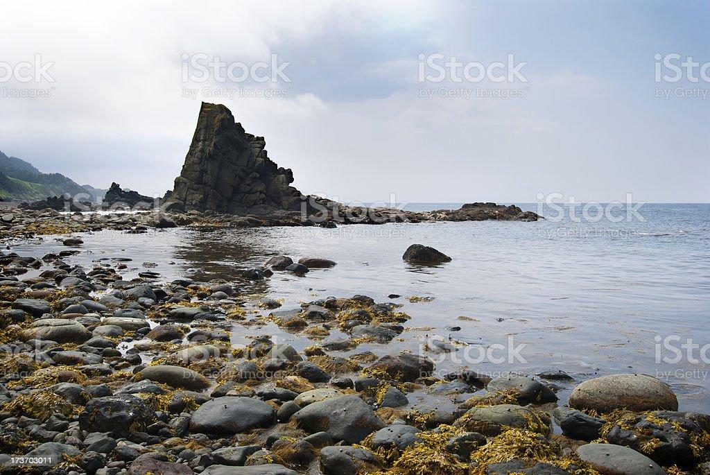 Coastline with reef royalty-free stock photo