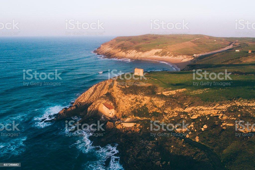 Coastside in Cantabria, Spain stock photo