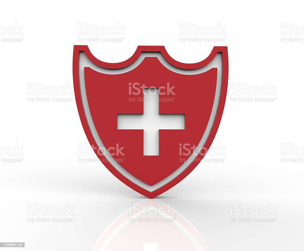 Coat arms of Swiss. 3D illustration stock photo