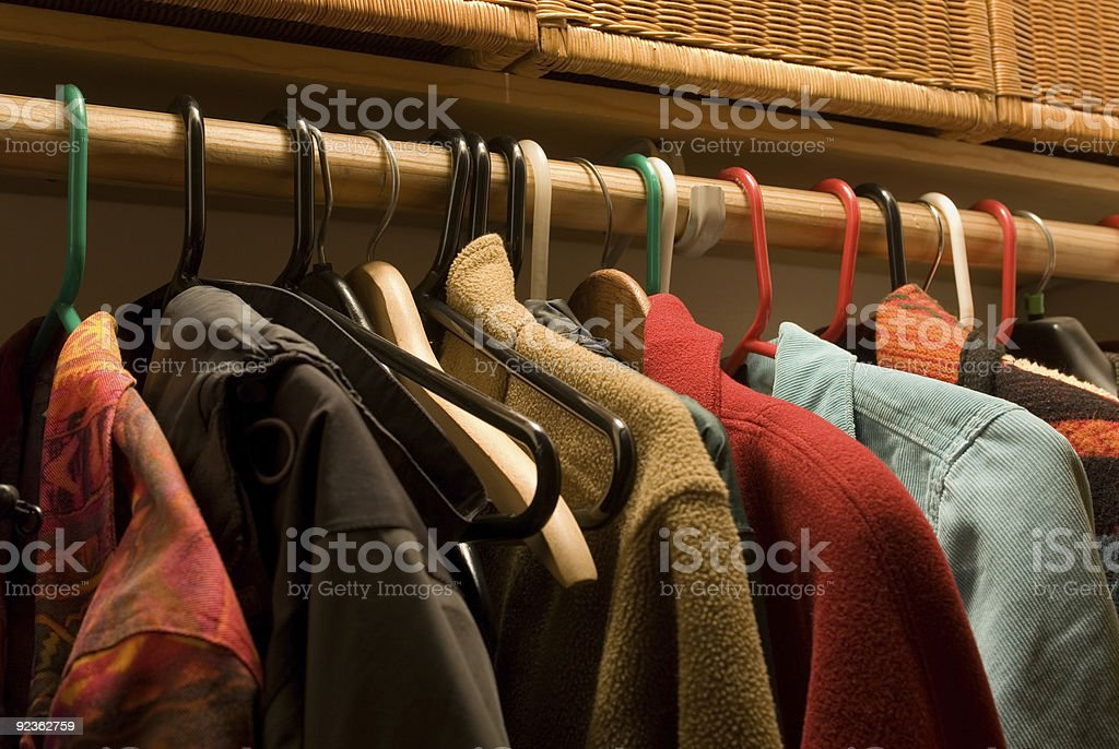 coat closet stock photo