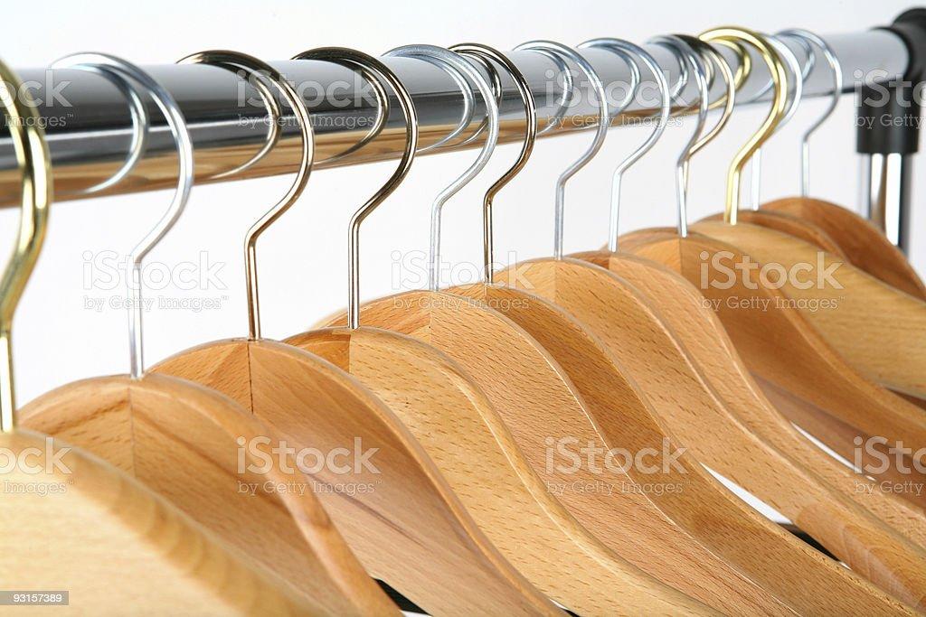 Coat hangers royalty-free stock photo