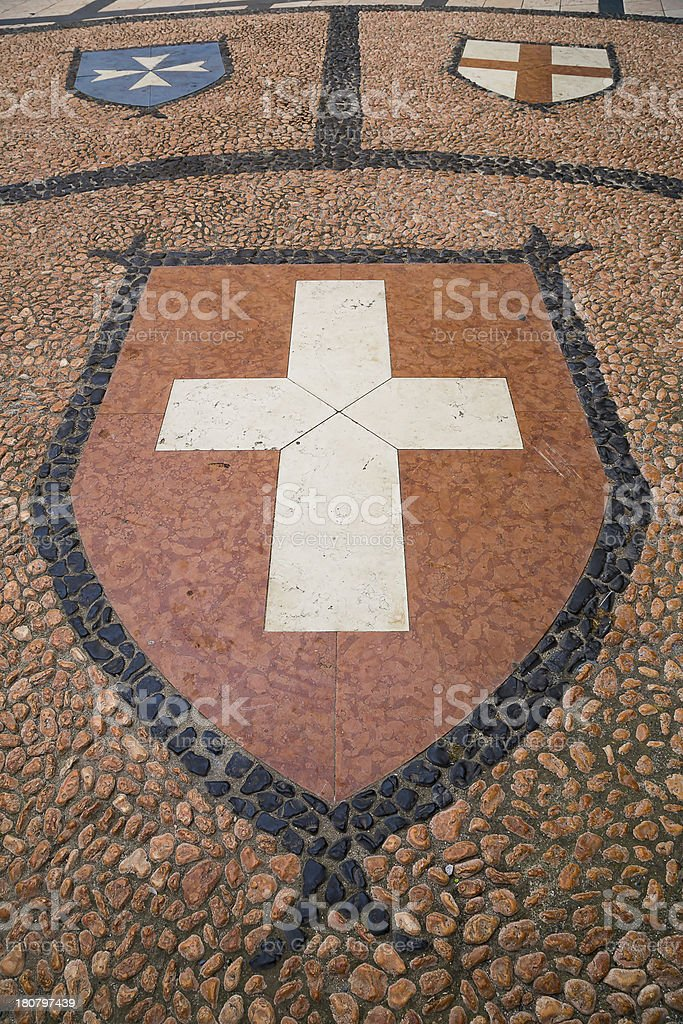 Coat of arm on the ground royalty-free stock photo