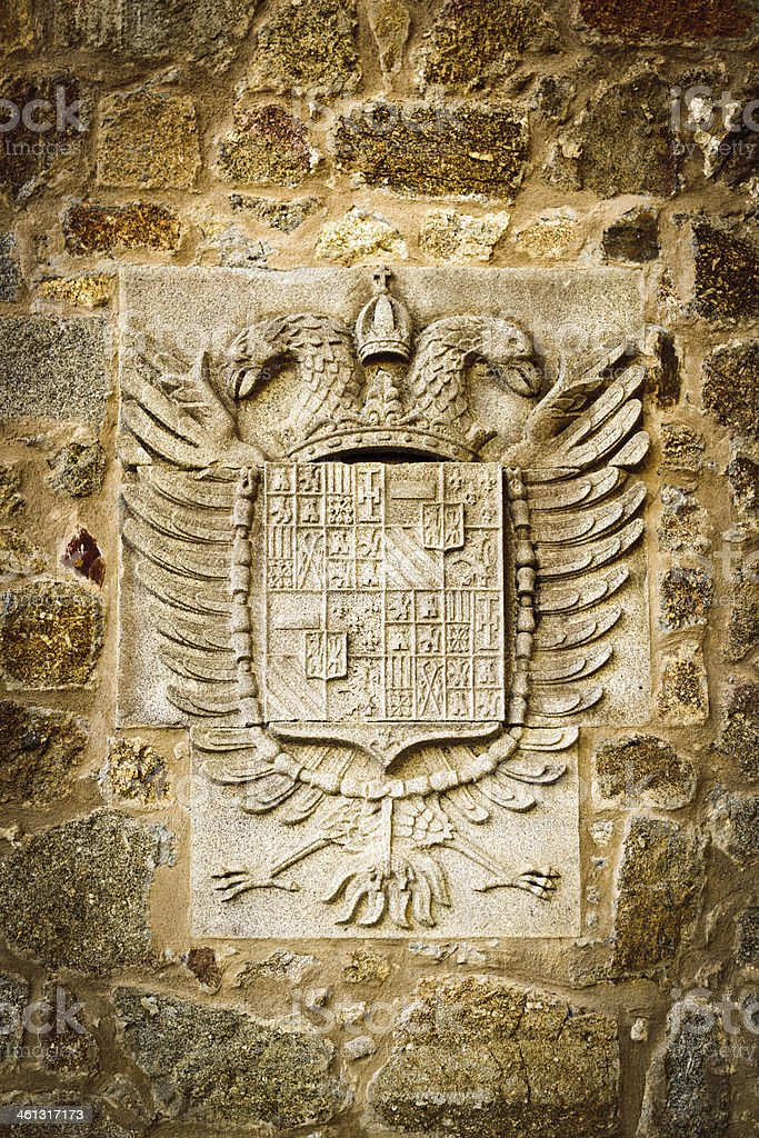 Coat of armas Emperor Charles V stock photo