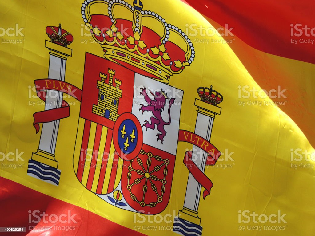 Coat of arms from Spain stock photo