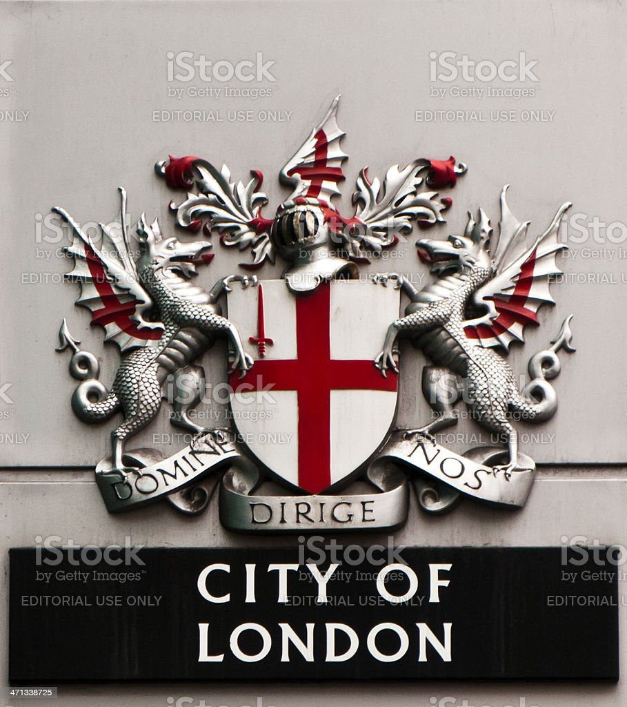 Coat of arms: London, England, UK royalty-free stock photo