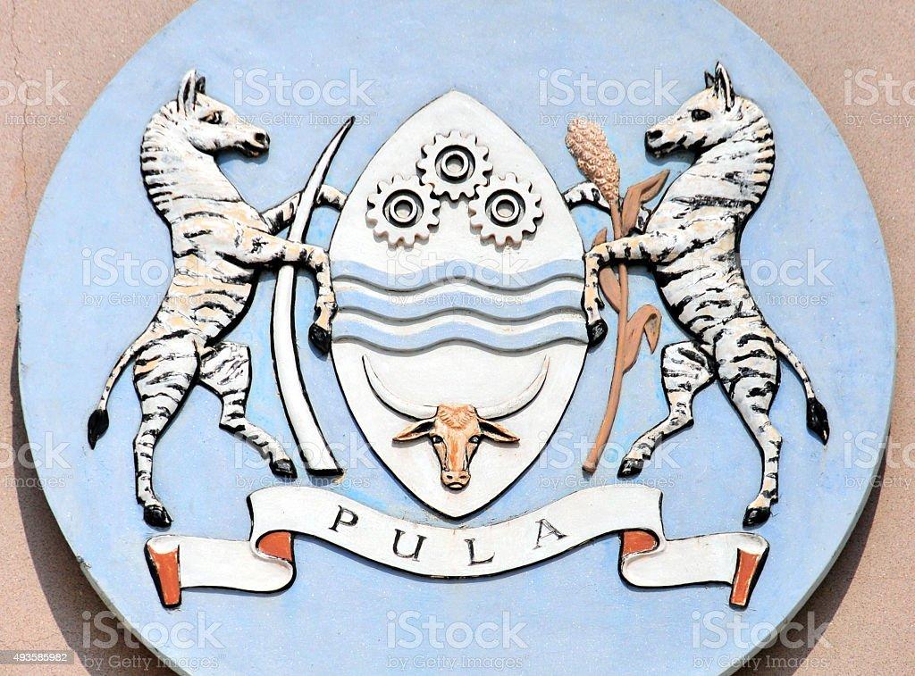 Coat of arms of Botswana stock photo