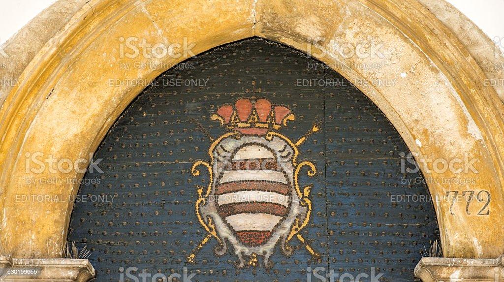 Coat of Arms of Dubrovnik Town, Dubrovnik, Croatia stock photo