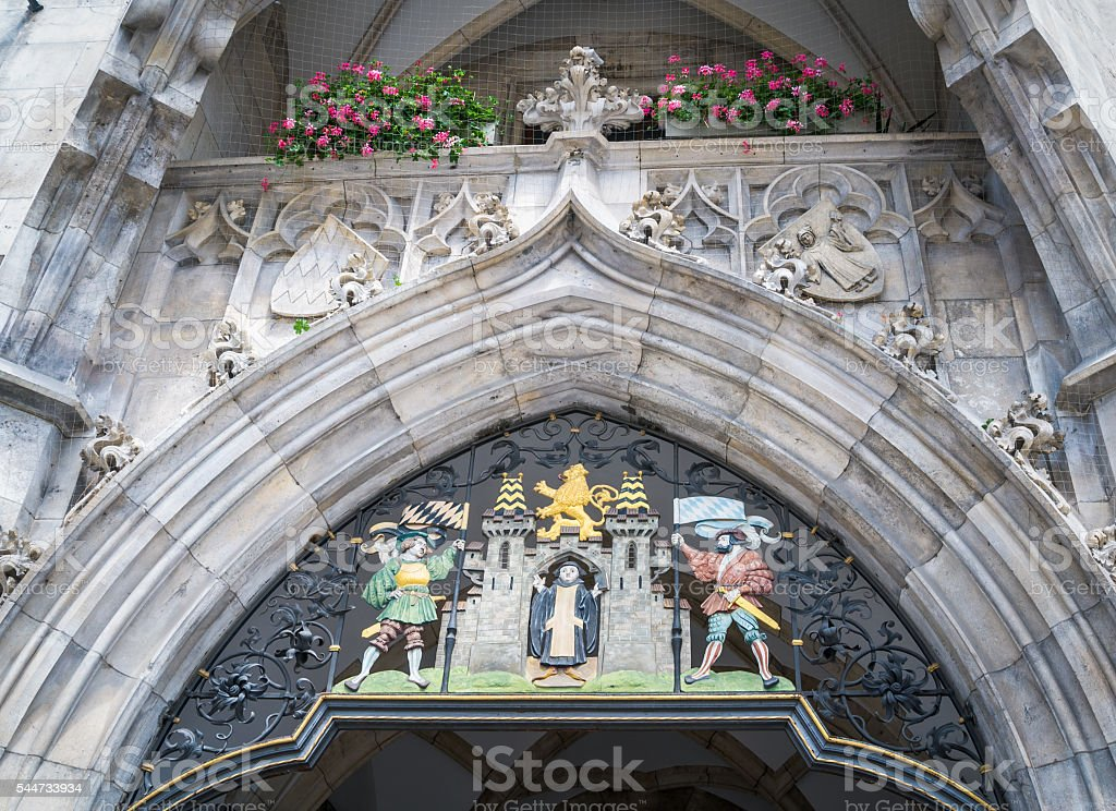 Coat of Arms of Munich stock photo