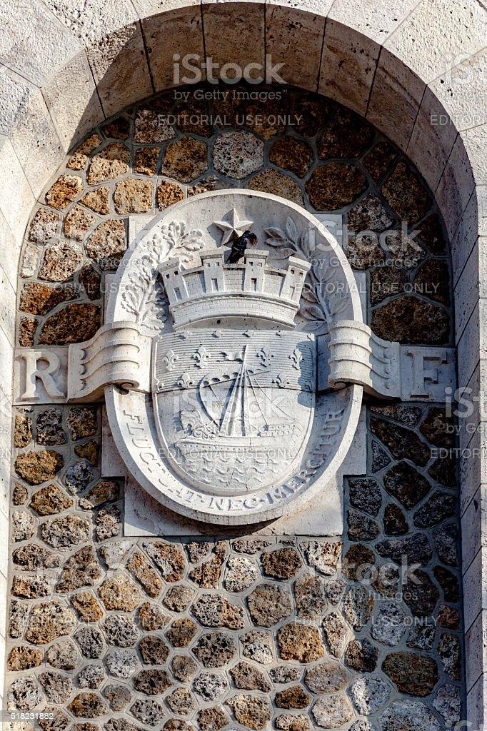 Coat of arms of Paris stock photo