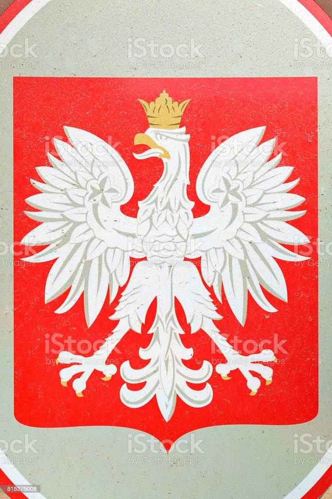 Coat of Arms of Poland stock photo