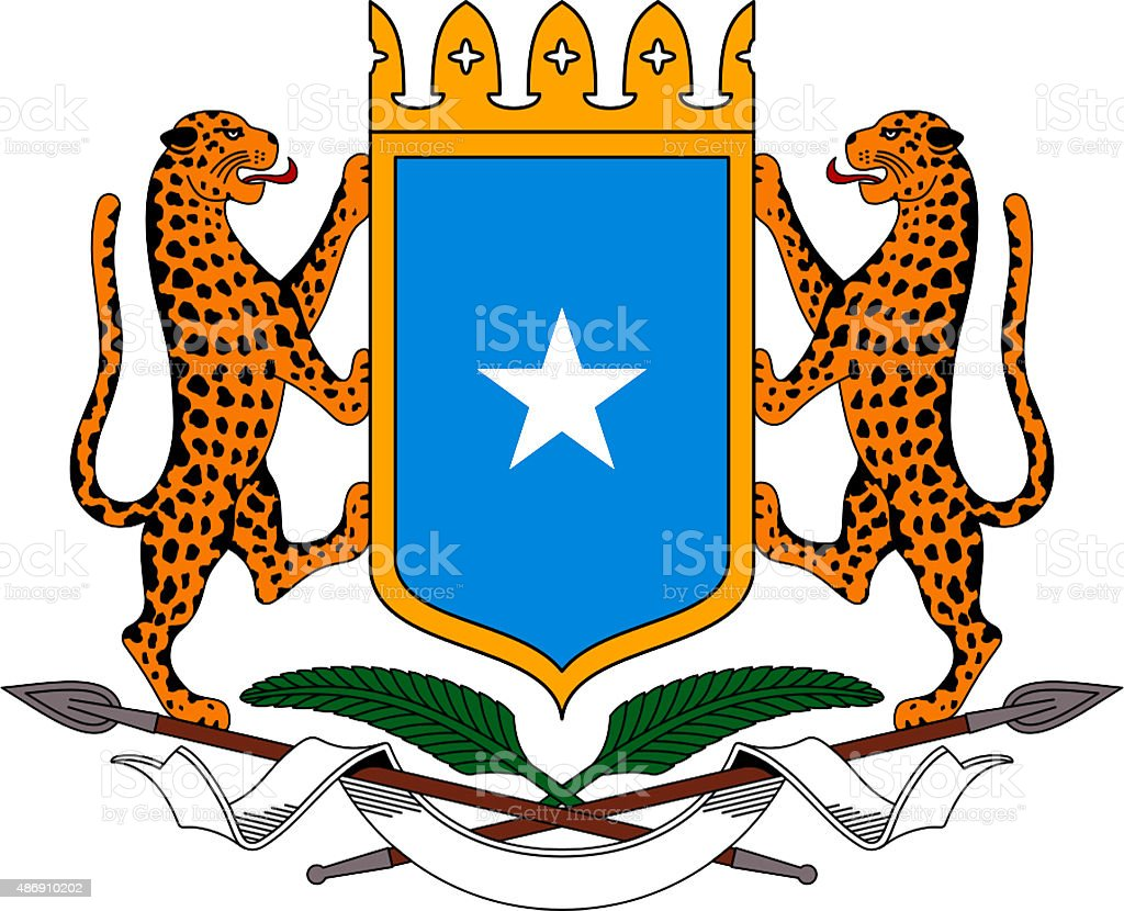 Coat of arms of the Somali Republic stock photo
