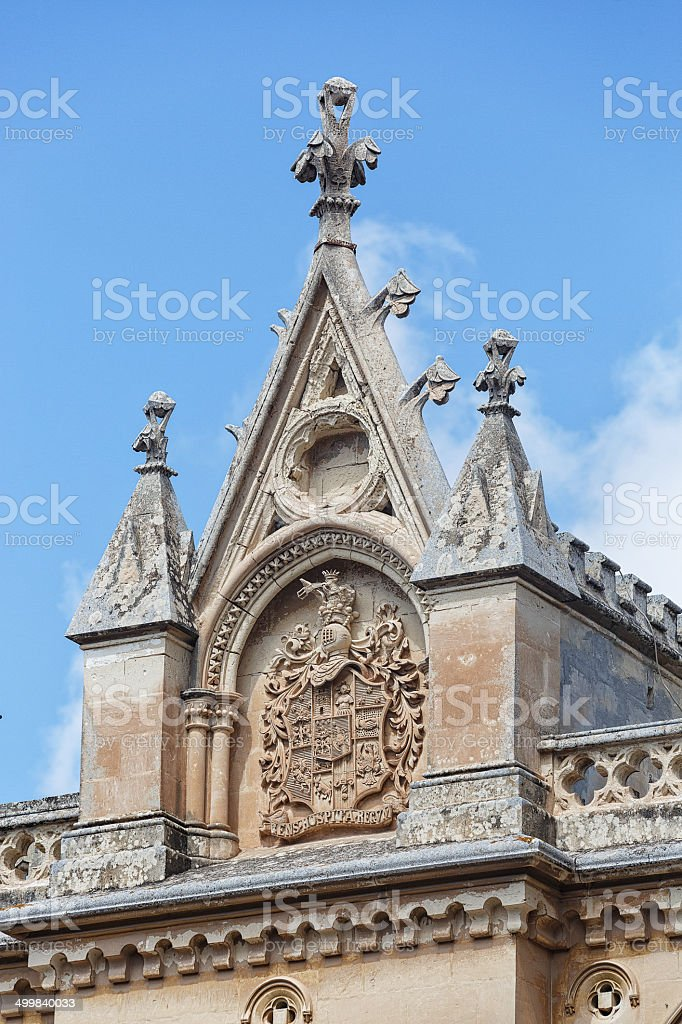 Coat of arms on a church in Malta royalty-free stock photo
