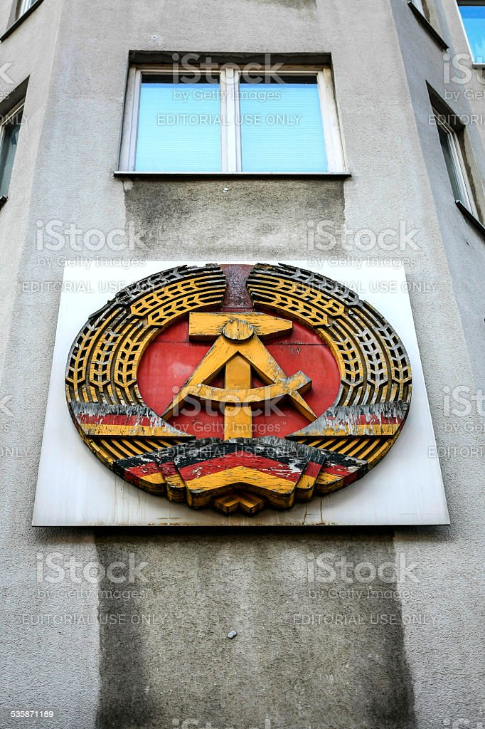 DDR Coat of Arms stock photo