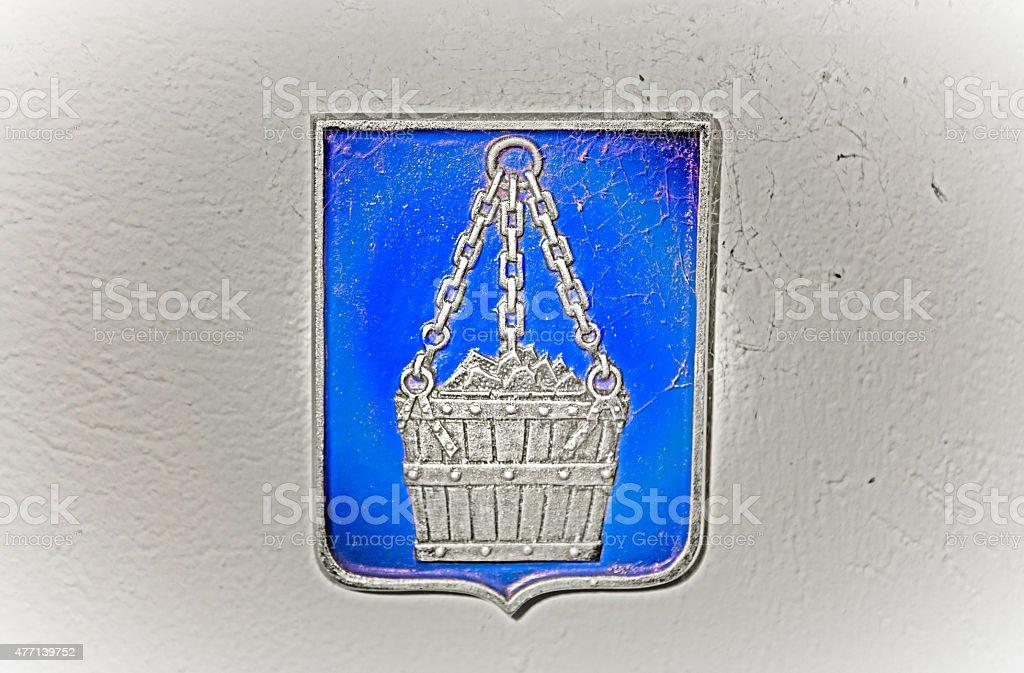 Coat of arms Skoldinge stock photo