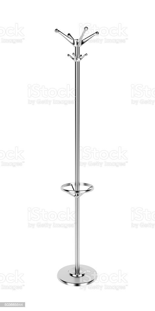 Coat rack stock photo