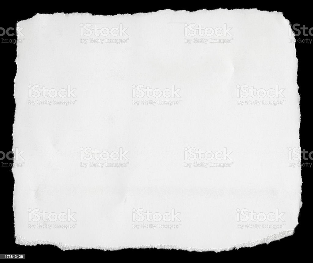 Coated Card Stock Torn Into Square royalty-free stock photo