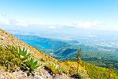 Coatepeque Caldera Lake Santa Ana And Izalco Volcanoes