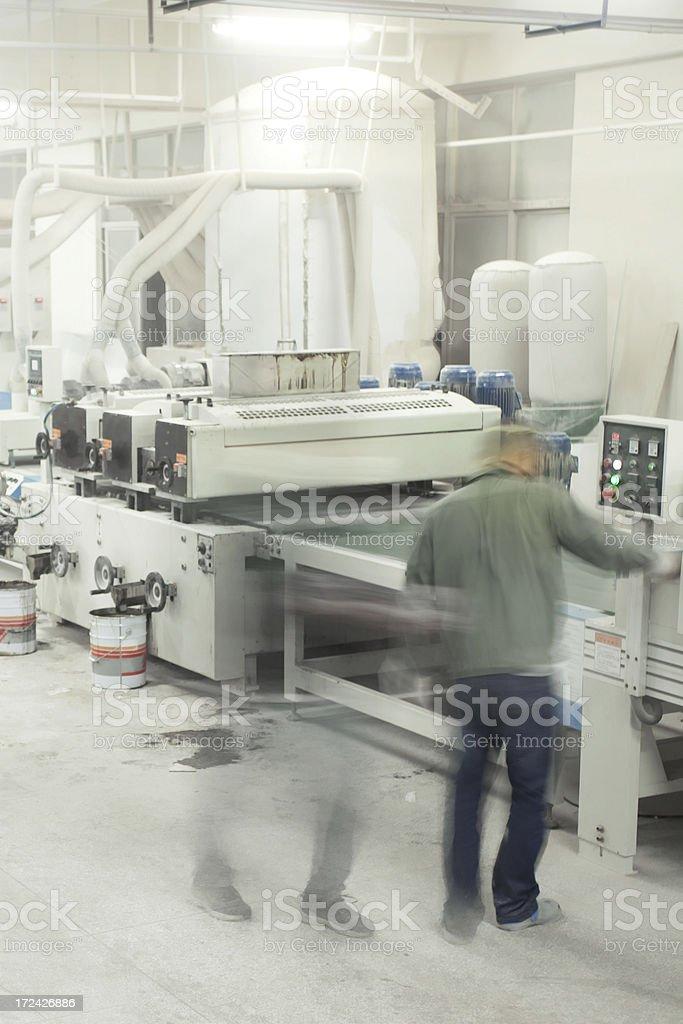 Coating machine royalty-free stock photo