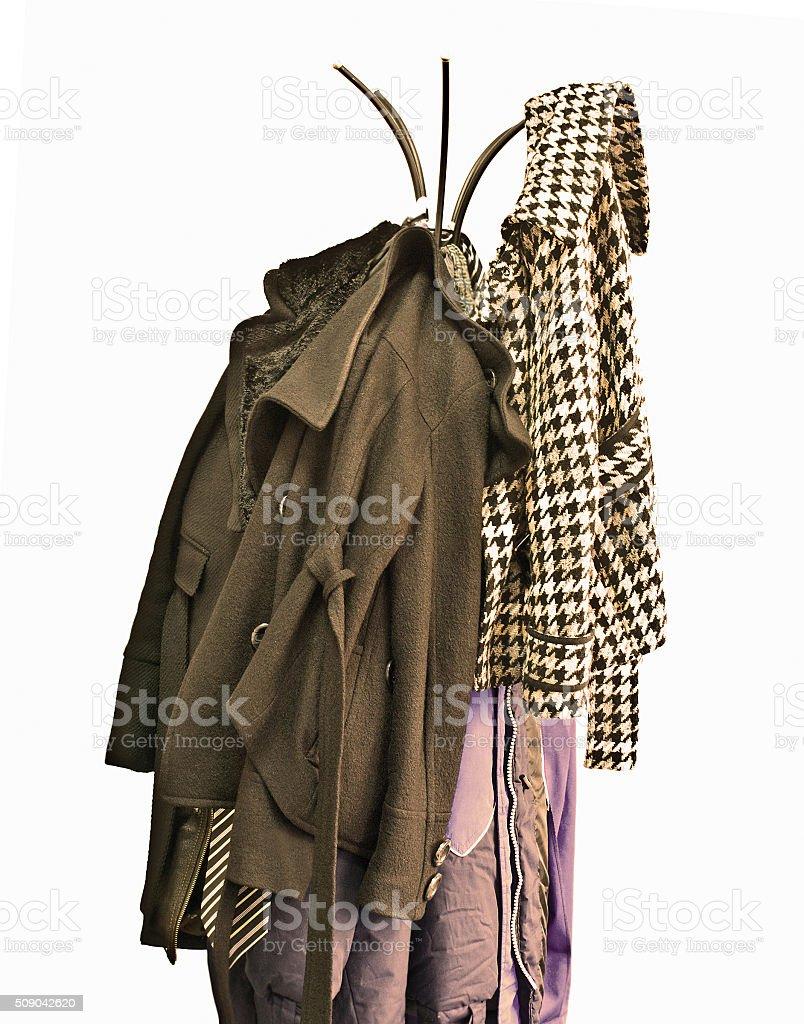 Coat-rack stock photo