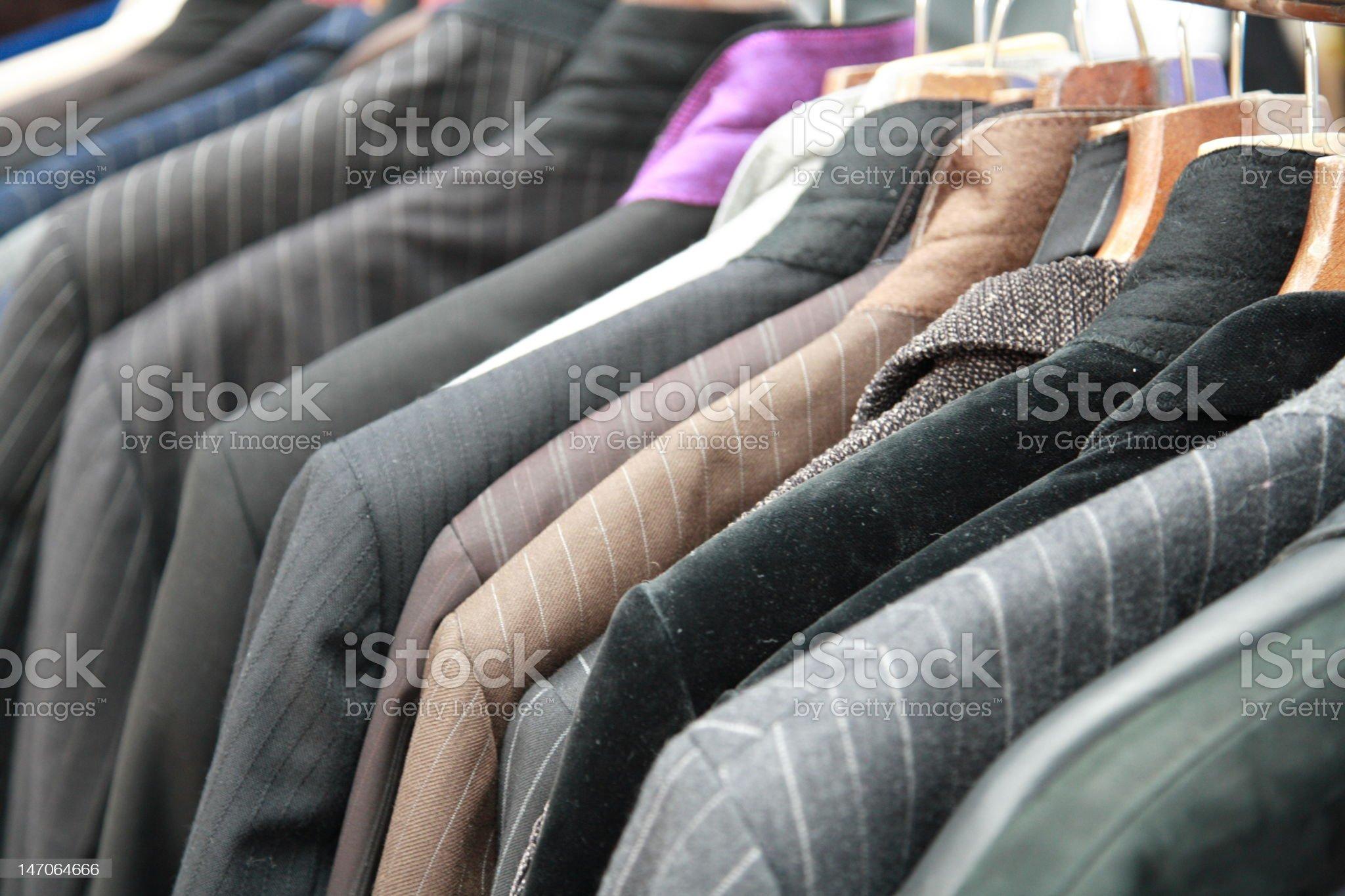 Coats on hanger royalty-free stock photo