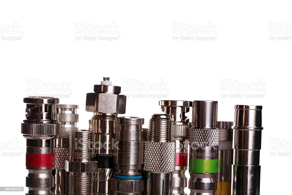 Coax cable connectors royalty-free stock photo