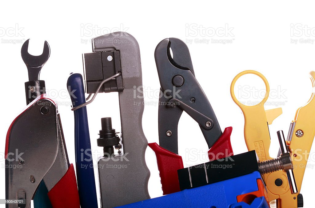 Coax Cable Tools royalty-free stock photo