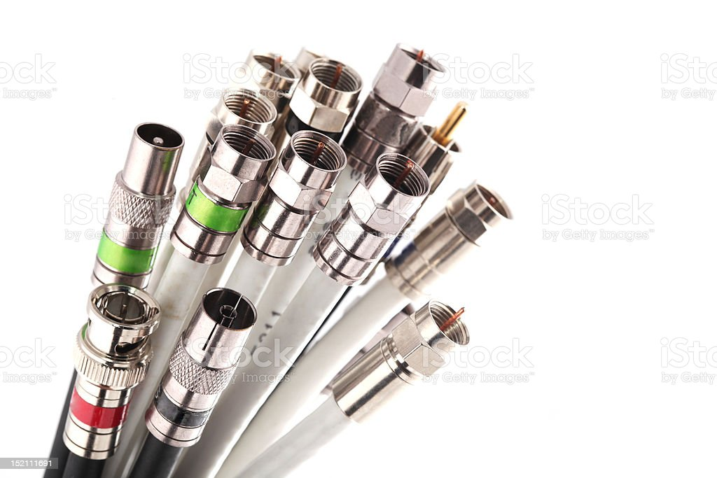 Coax cables stock photo