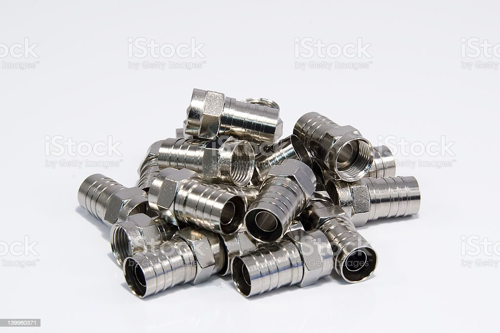 TV Coax Connector royalty-free stock photo