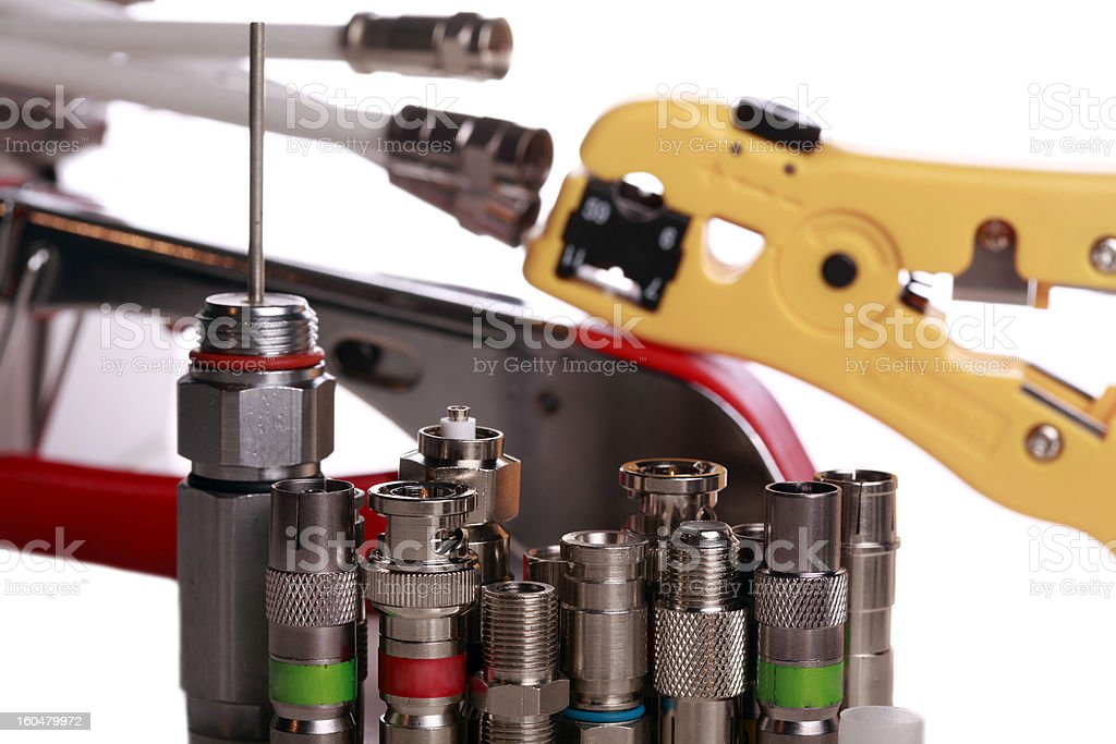 Coax connectors royalty-free stock photo
