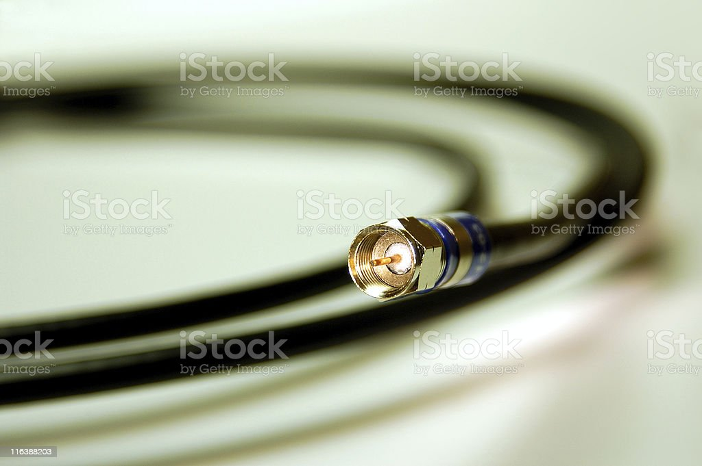 Coaxial cable royalty-free stock photo