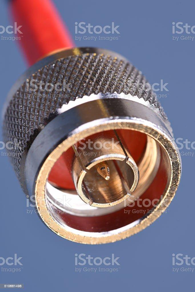 Coaxial connector stock photo