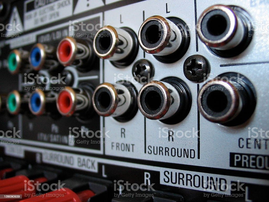 Coaxial plugs - black royalty-free stock photo