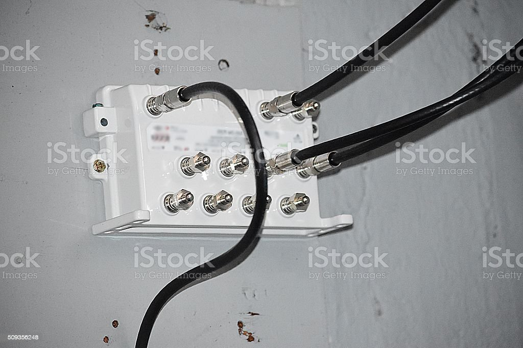 Coaxial Television Cable royalty-free stock photo