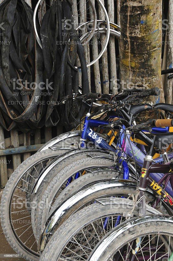 'Coba bike hire, Mexico' stock photo