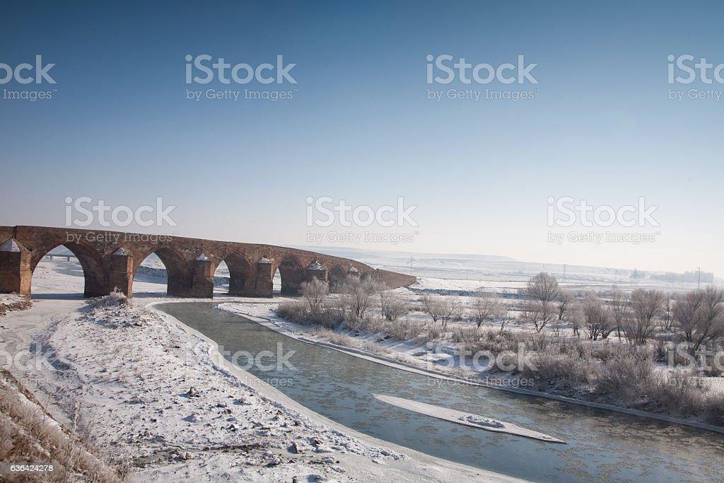 cobandede bridge Erzurum Turkey stock photo