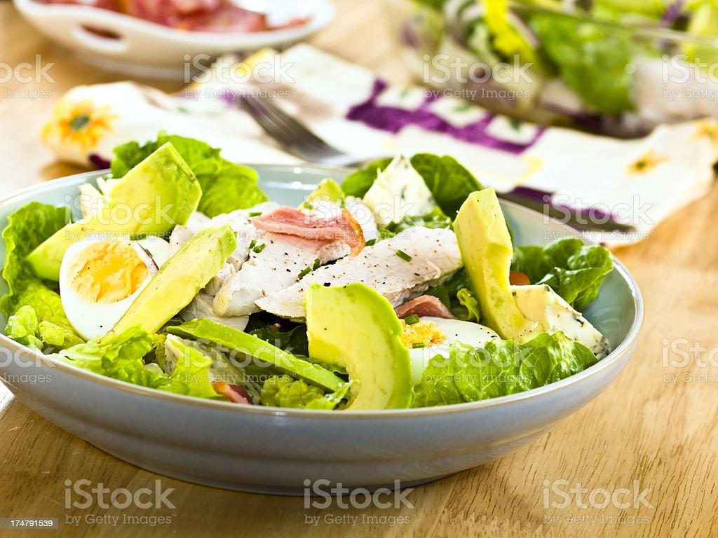 Cobb salad stock photo