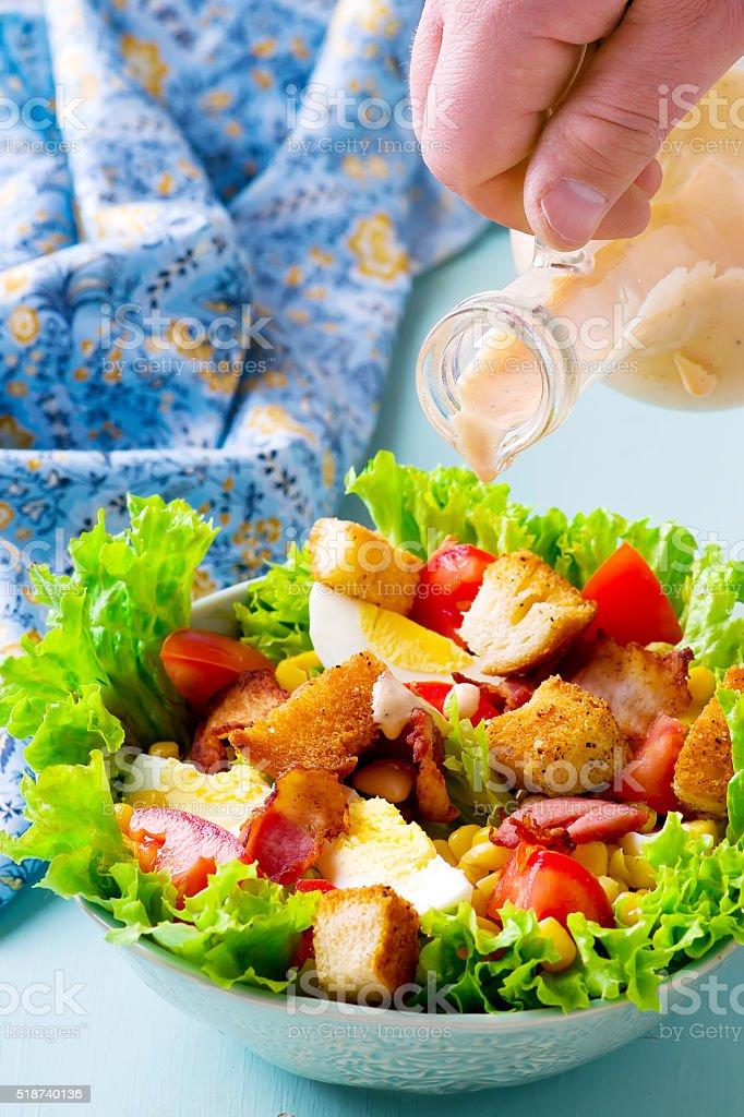 Cobb Salad. stock photo