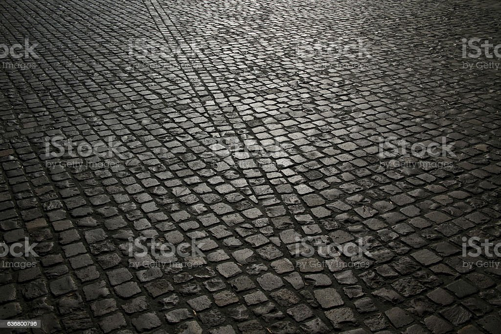 cobble pavement background stock photo