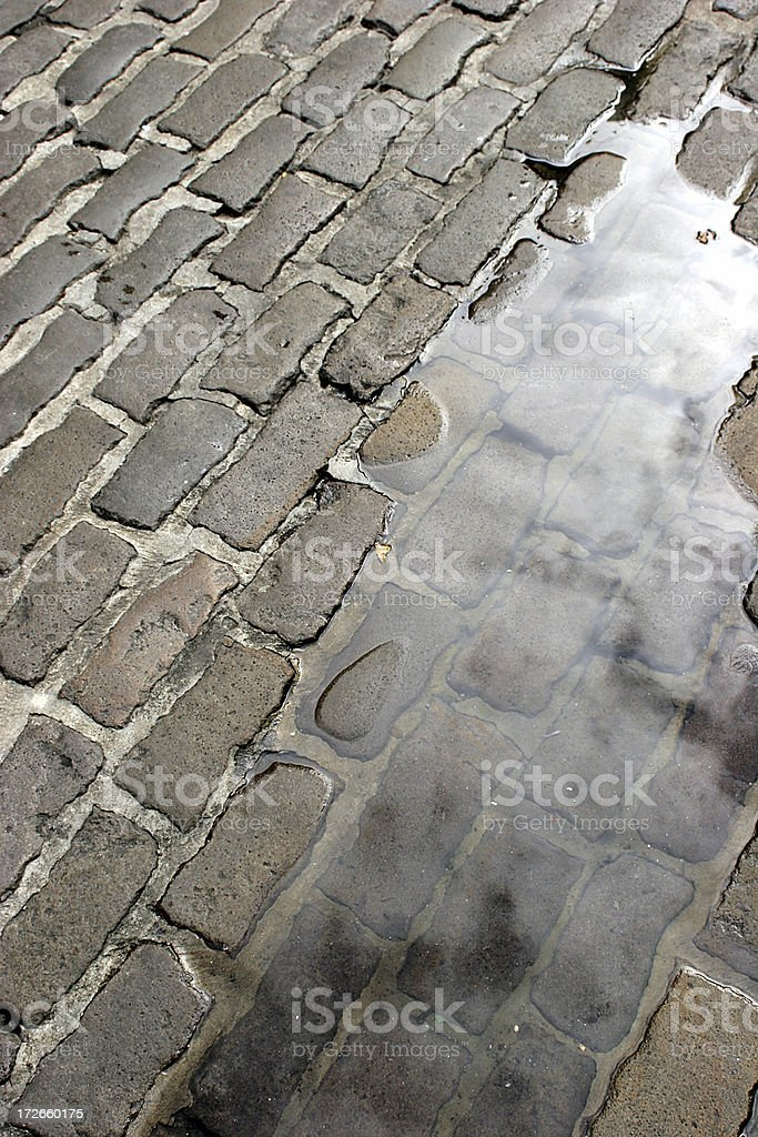 Cobble Puddle royalty-free stock photo