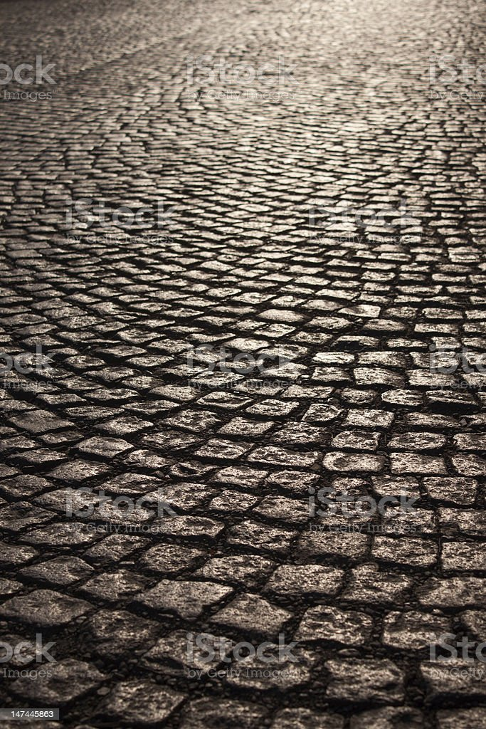 Cobble stone road royalty-free stock photo