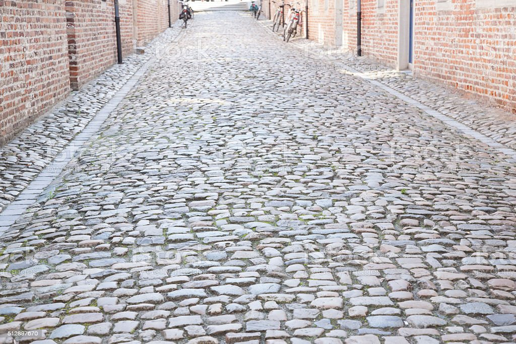Cobble Stone Street, Groot Begijnhof, Leuven stock photo