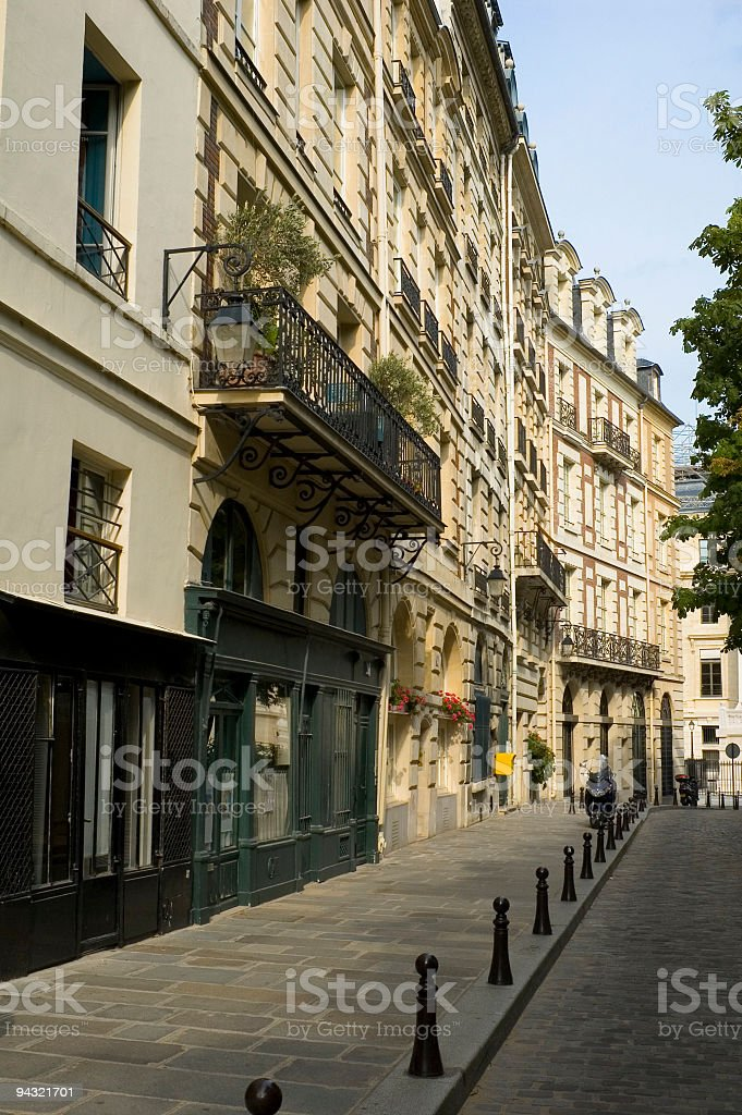 Cobbled city street royalty-free stock photo