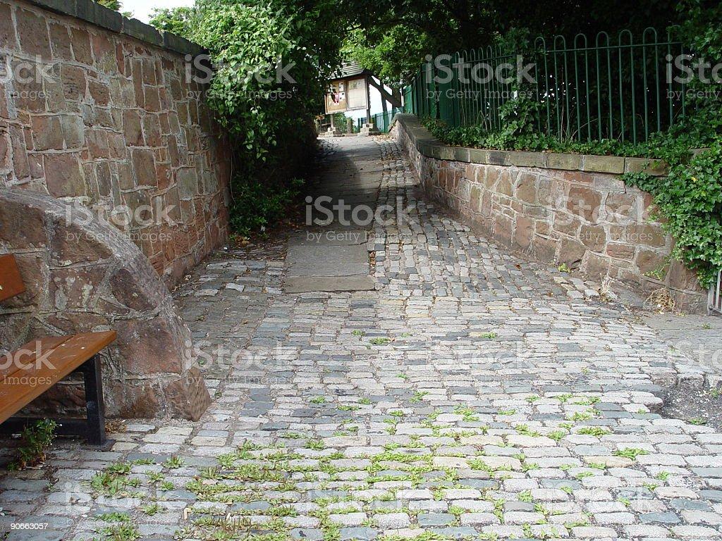 Cobbled Path stock photo