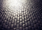 Cobbled road perspective background