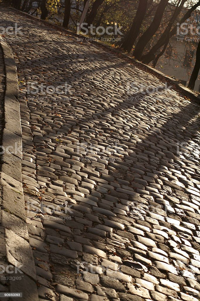 Cobbled Road. royalty-free stock photo