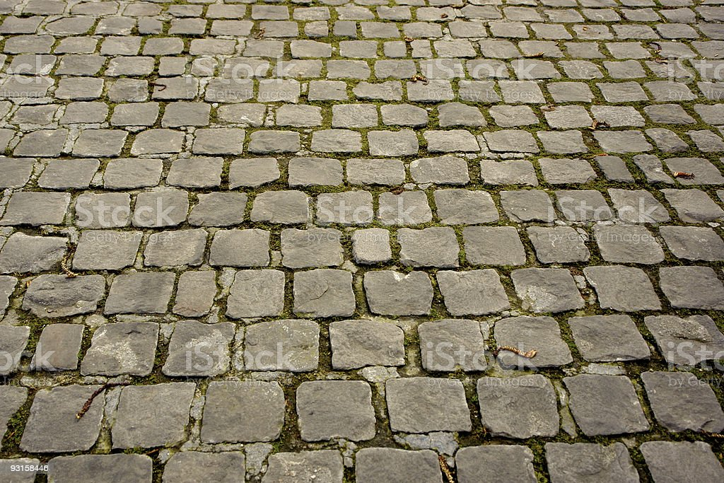 Cobbled road royalty-free stock photo